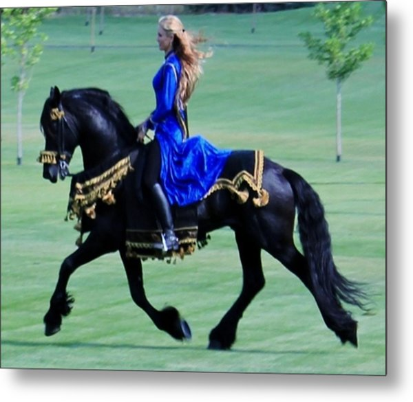 Friesian Dream Metal Print