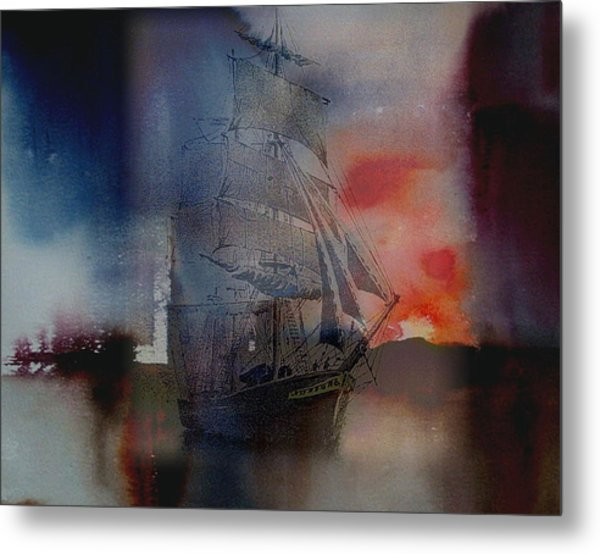 From Out Of The Sunset Metal Print
