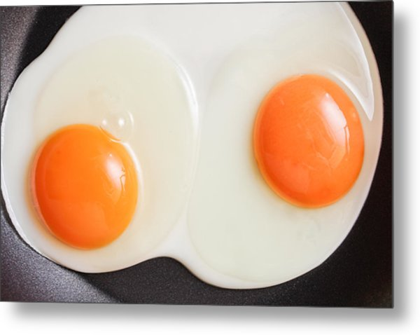 Frying Eggs Metal Print