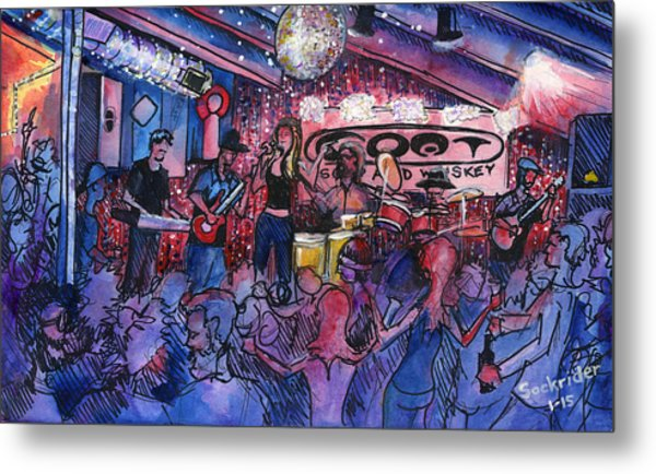 Funky Johnson At The Goat Metal Print