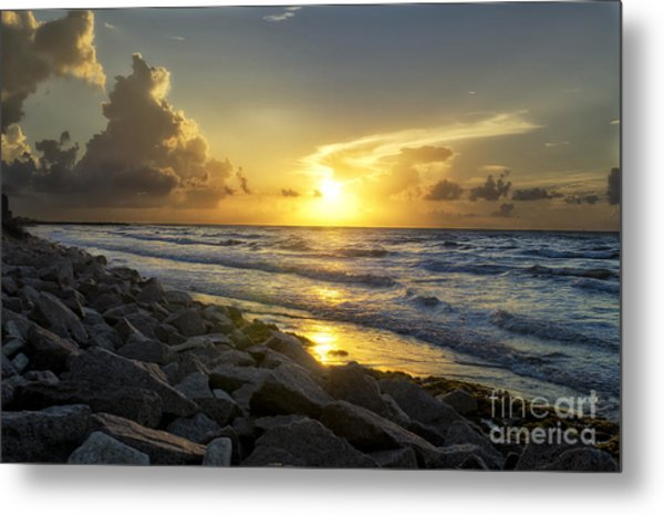 Galveston Sunrise Metal Print