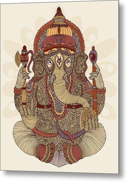 Ganesha Metal Print by Valentina Ramos