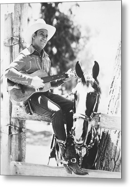 Gene Autry Metal Print by Silver Screen