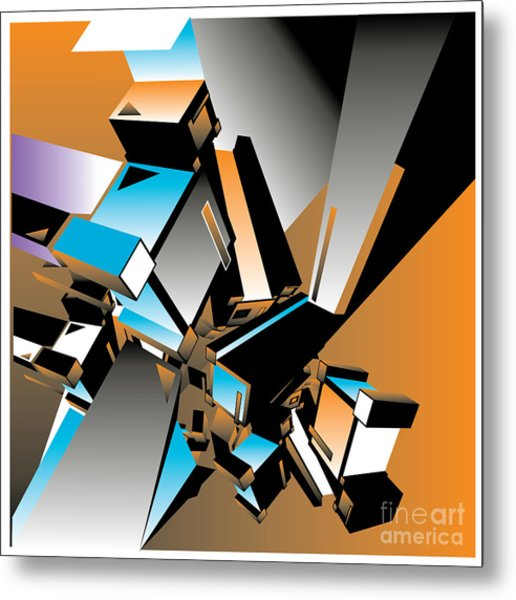 Geometric Colorful Design Abstract Metal Print