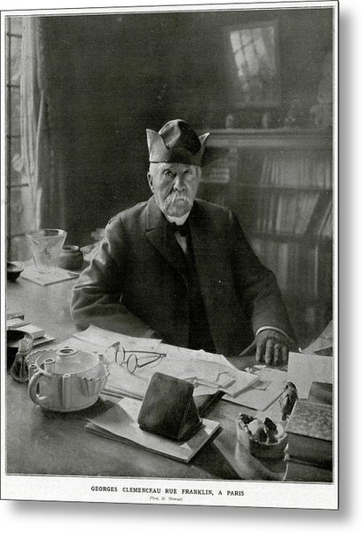 Georges Clemenceau  French Statesman Metal Print by Mary Evans Picture Library
