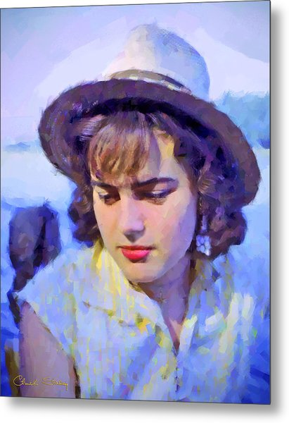 German Girl On The Rhine Metal Print