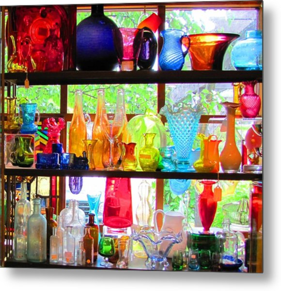 Gifts Of Glass Metal Print by Jeanne Porter
