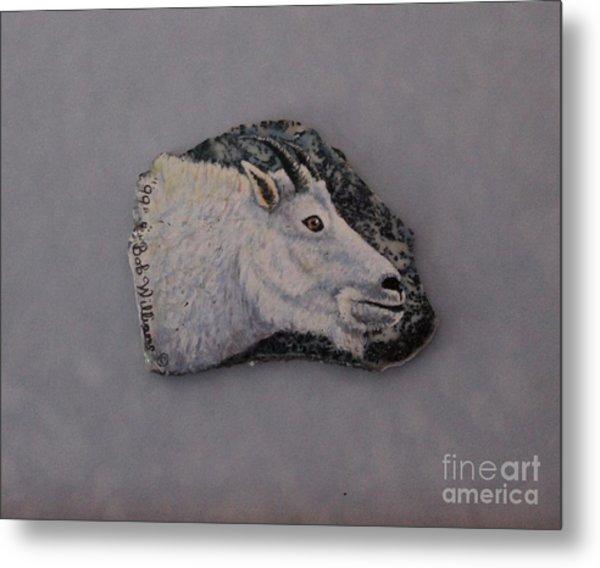 Glacier Park Mountain Goat Metal Print