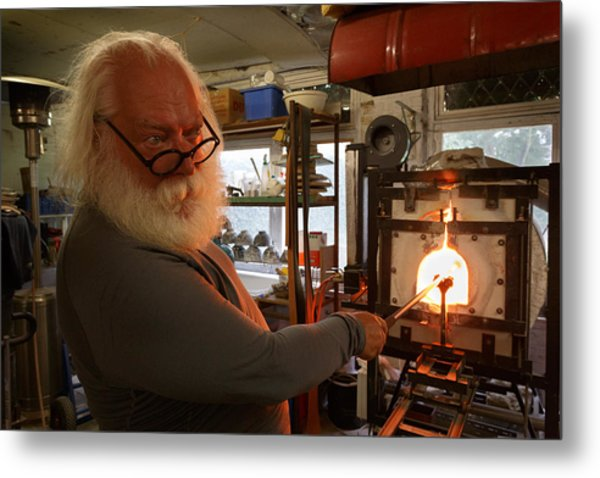 Glass Furnace Metal Print by Paul Indigo