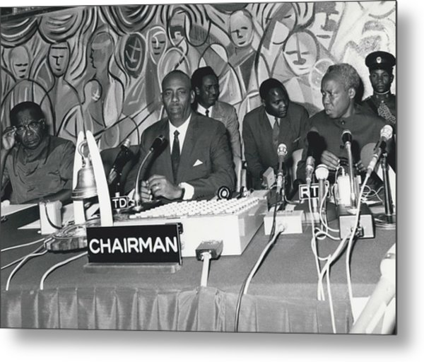 �good Neighbors� Conference, Dares Salaam, Tanzania Metal Print by Retro Images Archive