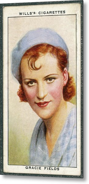 Gracie Fields  English Singer Metal Print by Mary Evans Picture Library