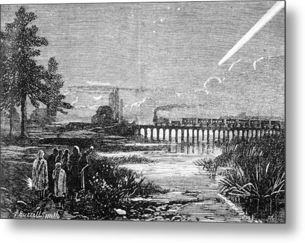 Great Comet Of 1882 Metal Print by Royal Astronomical Society/science Photo Library