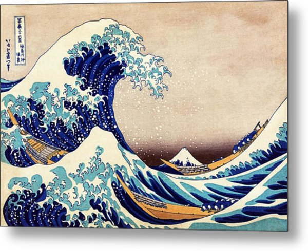 Metal Print featuring the painting Great Wave Off Kanagawa by Katsushika Hokusai