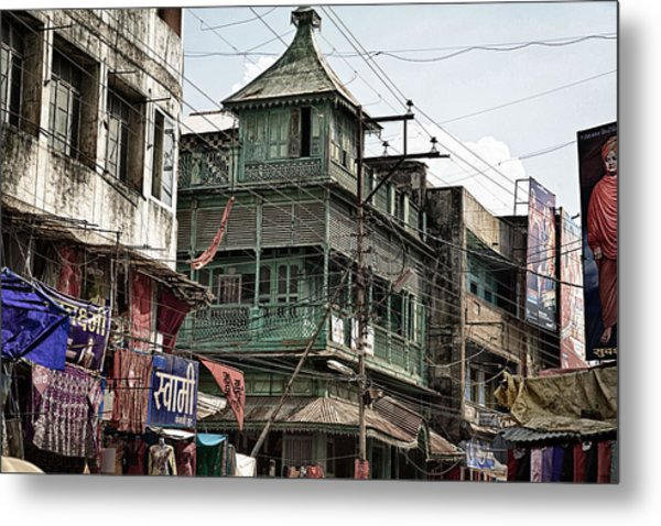 Green House At The Marketplace  Metal Print