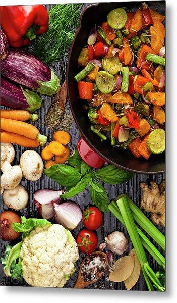 Grilled Vegetables Metal Print by Fcafotodigital