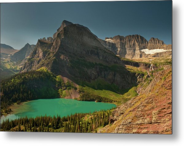 Grinnell Lake And Mount Gould, Glacier Metal Print