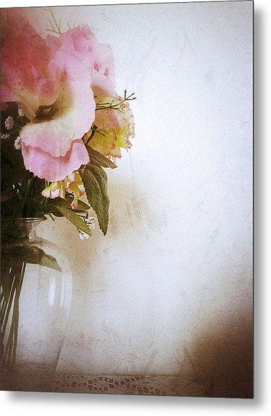 Grunge Flowers 4 Metal Print