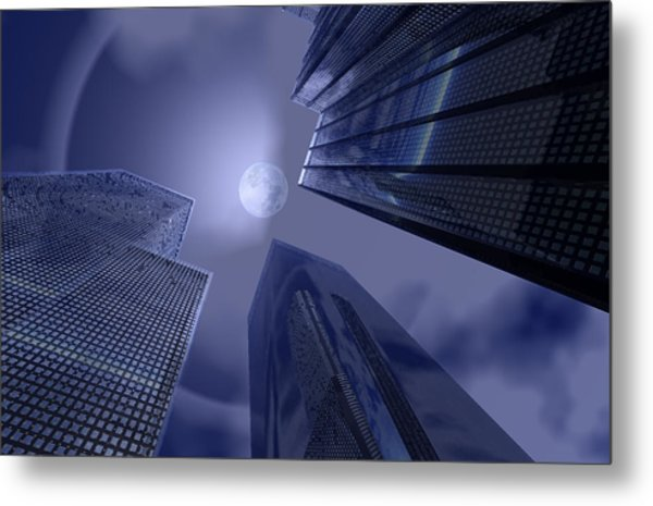 Halo On Tower 202 Metal Print
