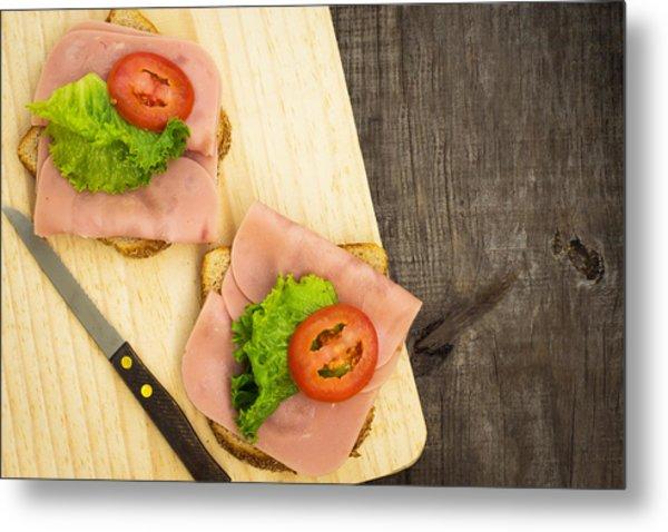 Ham Sandwiches Metal Print
