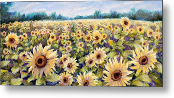 Happiness Field Metal Print