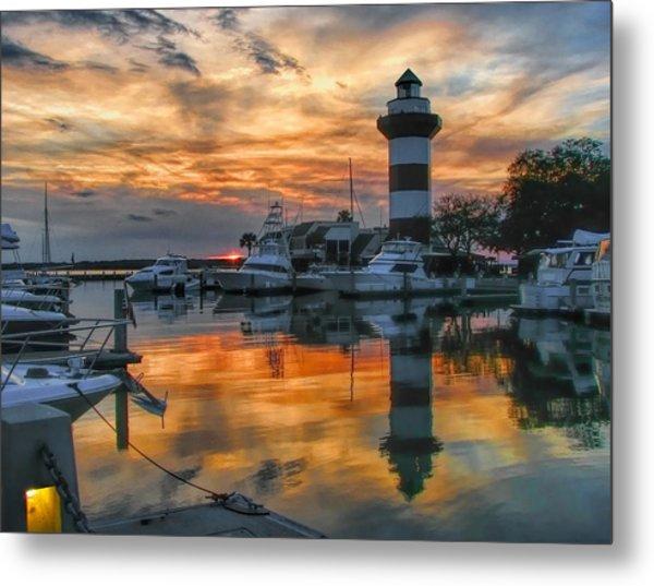 Harbour Town Sunset Metal Print