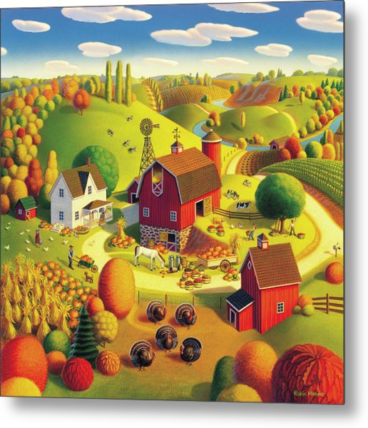 Harvest Bounty Metal Print