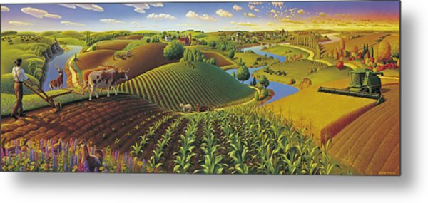 Harvest Panorama  Metal Print