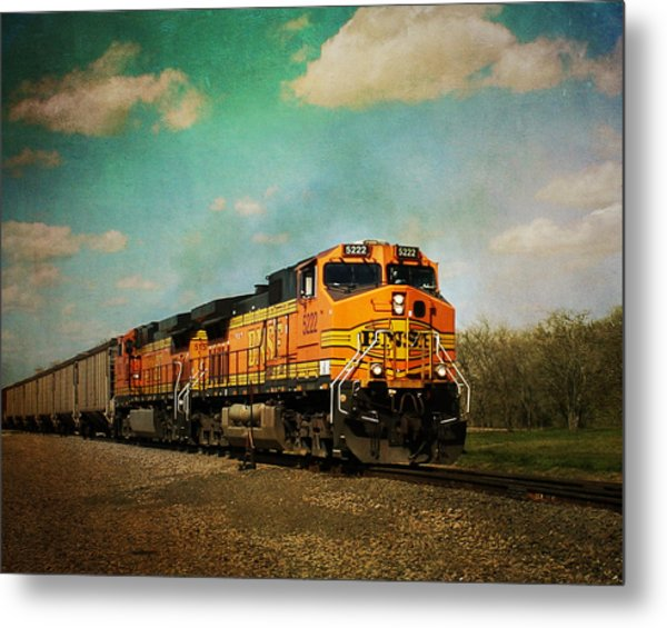 Hear The Train A Coming Metal Print