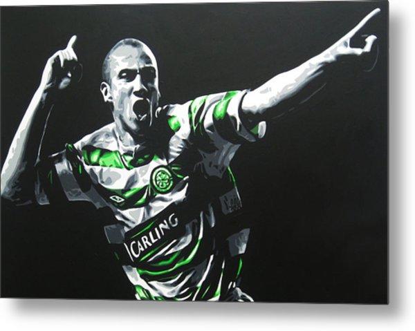 Henrik Larsson - Celtic Fc Metal Print