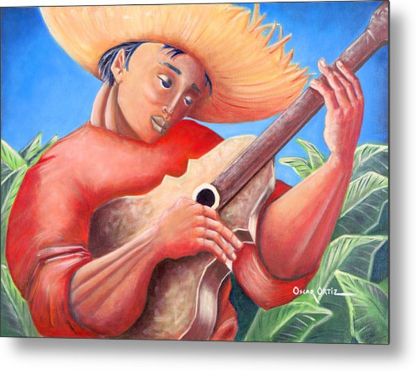 Metal Print featuring the painting Hidalgo Campesino by Oscar Ortiz