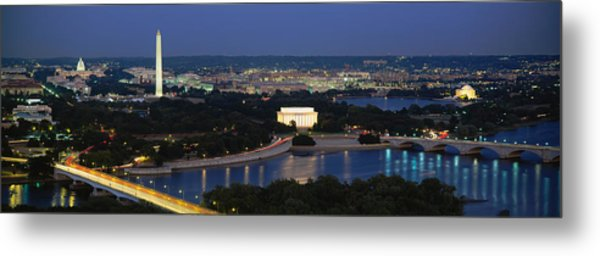 High Angle View Of A City, Washington Metal Print