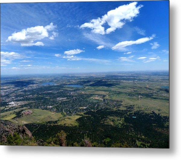 High Over Boulder Colorado Metal Print