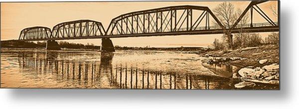 Historical Kinsey Bridge Metal Print by Leland D Howard