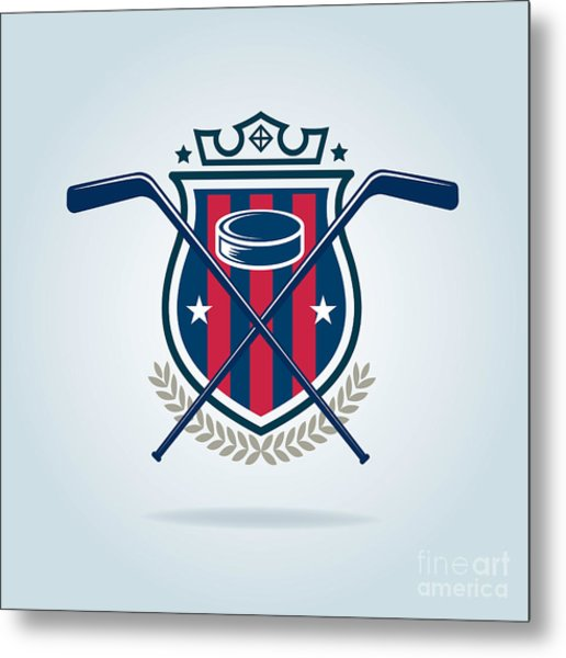 Hockey Logo,sport Metal Print
