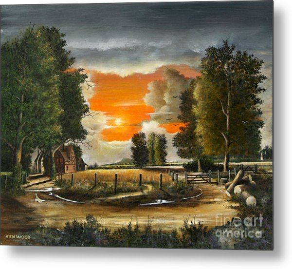 Hoggets Farm Metal Print