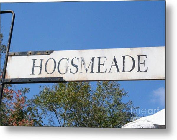 Hogsmeade Sign Metal Print