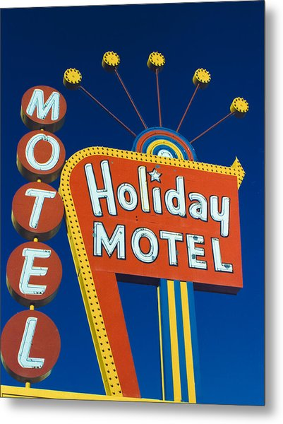 Holiday Motel Metal Print