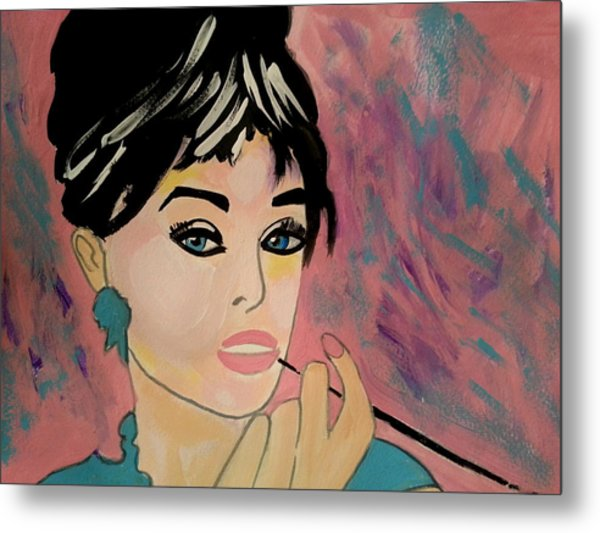Audrey Hepburn - Holly  Metal Print