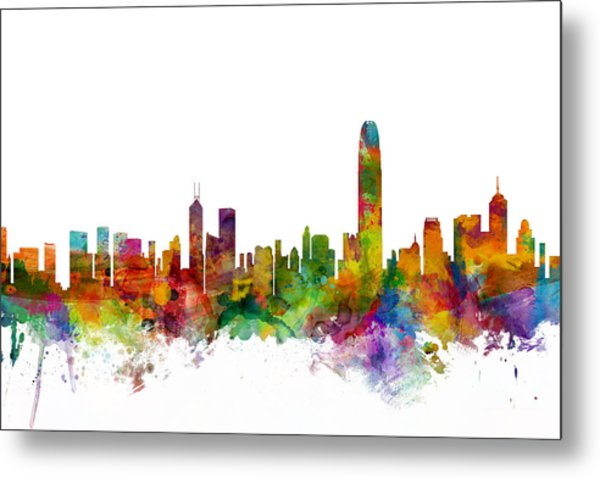 Hong Kong Skyline Metal Print
