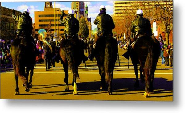 Horse Patrol Metal Print