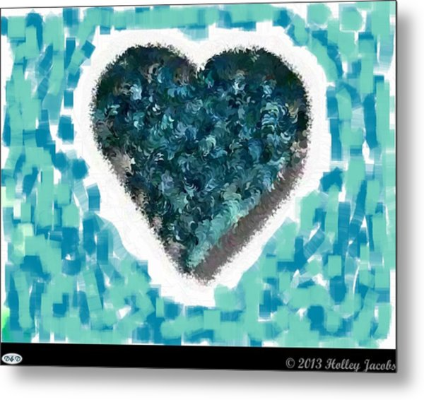 How Do I Live Teal Metal Print by Holley Jacobs