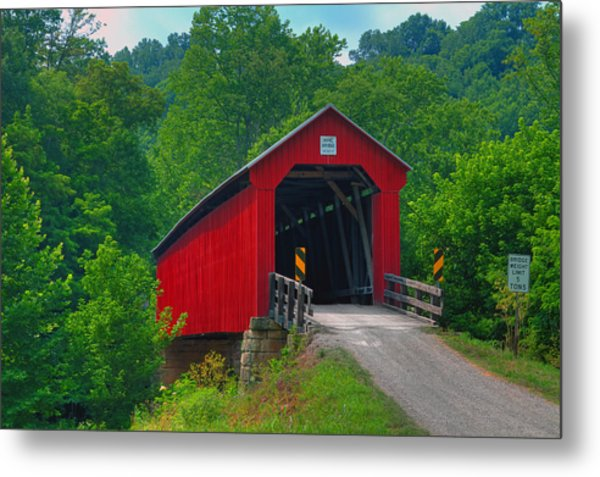 Hune Covered Bridge Metal Print