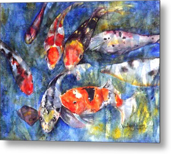 Hungry Koi Metal Print