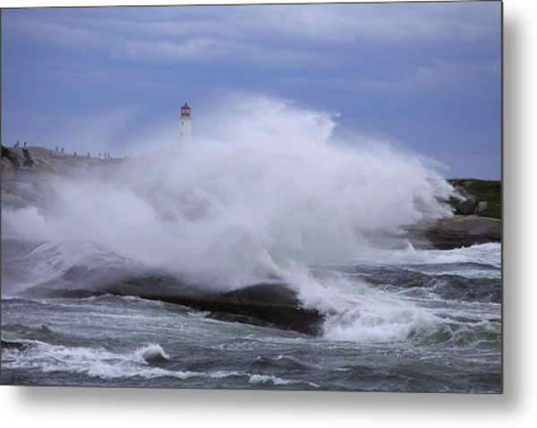 Hurricane Arthur 2014 Hits Peggy's Cove Metal Print