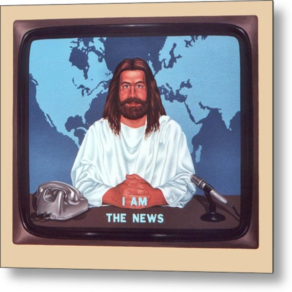 I Am The News Metal Print by Michael Di Nunzio