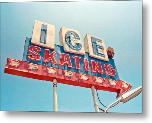 Ice Skating Metal Print