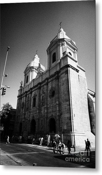 Iglesia De Santo Domingo Santiago Chile Metal Print by Joe Fox