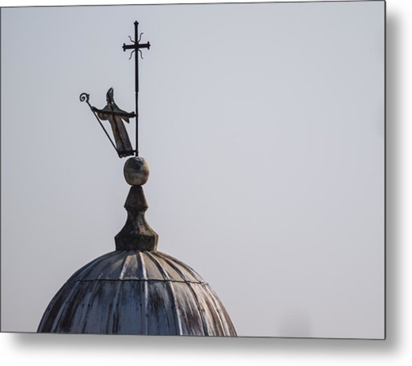 The Bell Tower Of Sant'agostino - Pietrasanta Metal Print