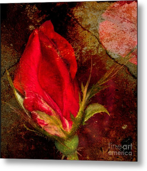 Impressionistic Rose Metal Print