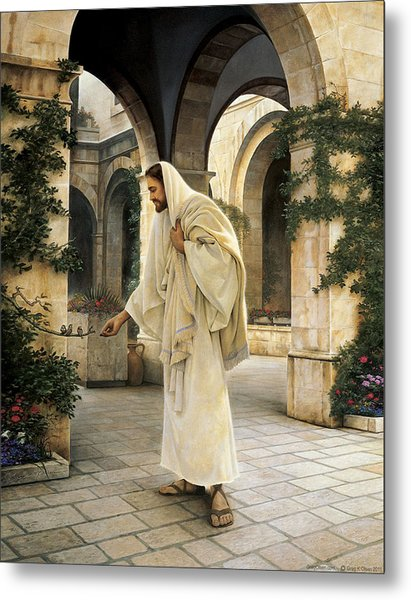 Metal Print featuring the painting In His Constant Care by Greg Olsen